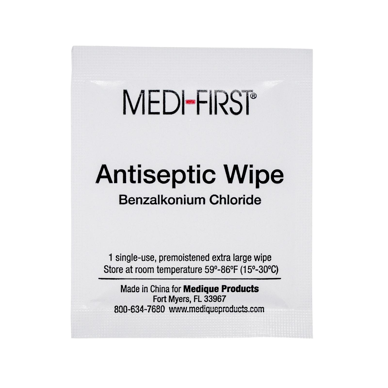 Medifirst Antiseptic Wipes   MFASCO Health & Safety