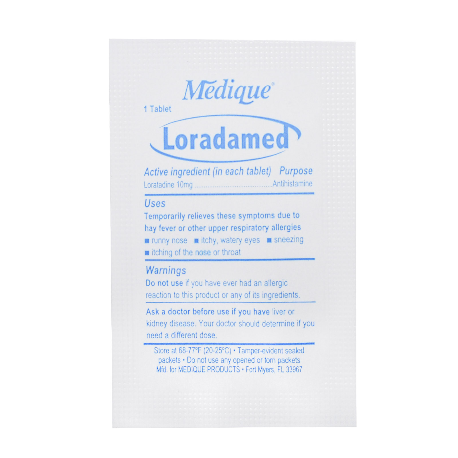 Medique Loradamed Allergy Packets   MFASCO Health & Safety