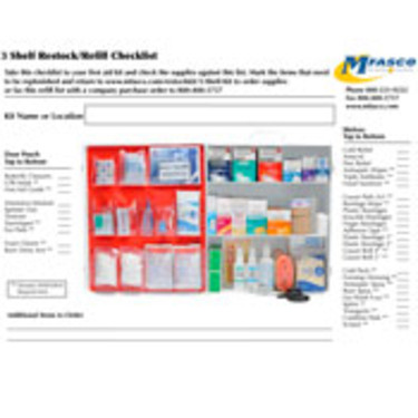 Restaurant/Food Service Kit Refill Checklist PDF