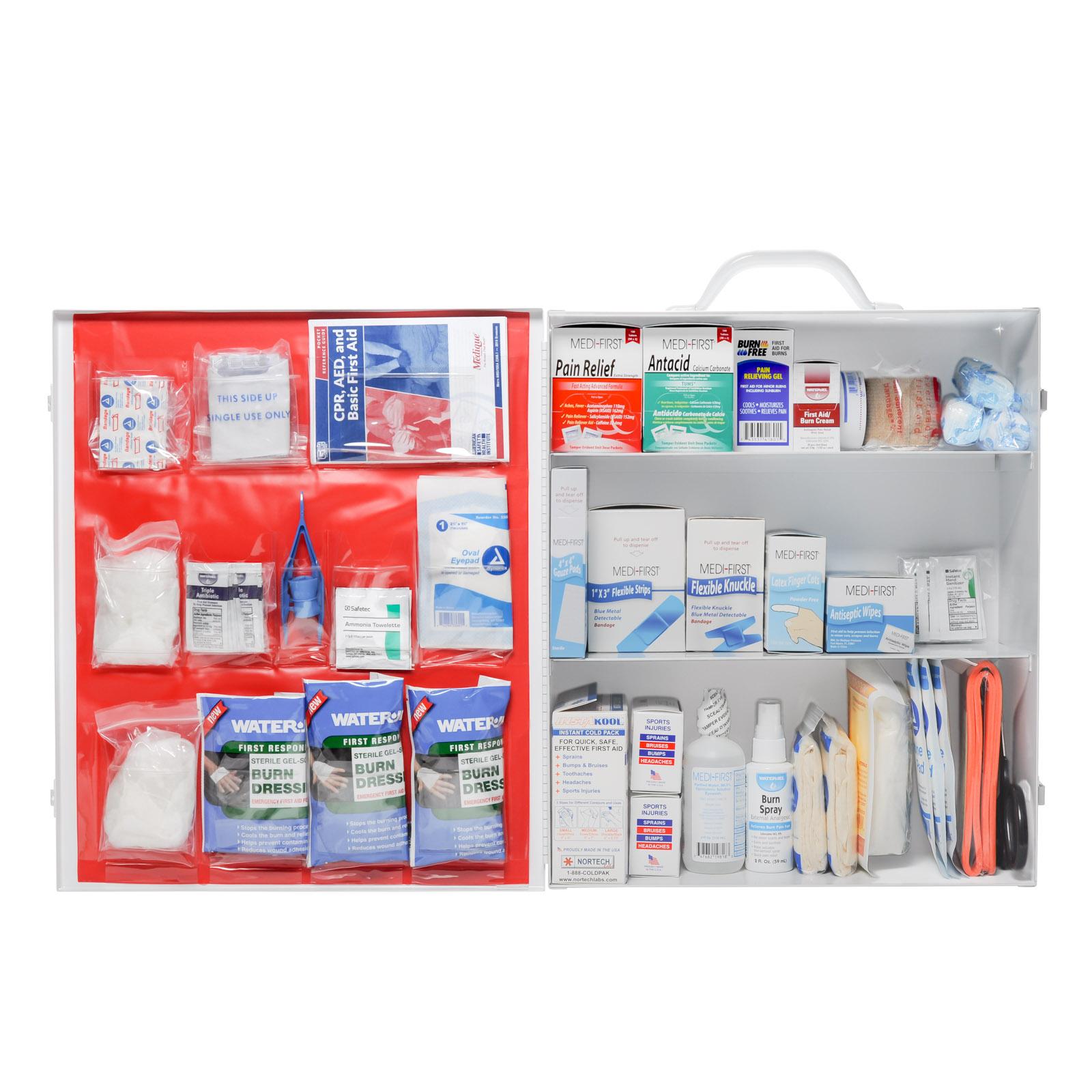 Restaurant first aid kit 3 shelf complete mfasco health for First aid kits for restaurant kitchens