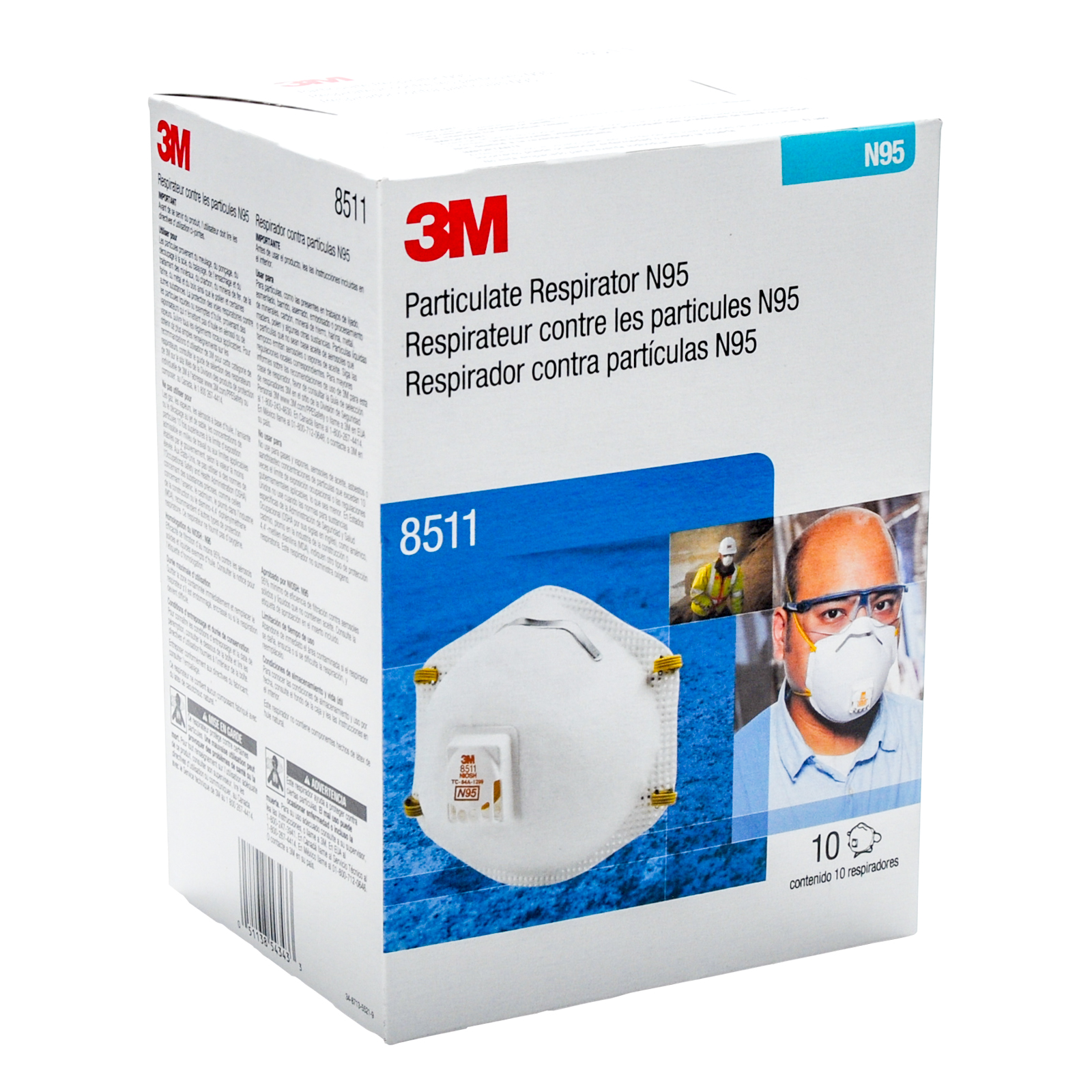 Industrial Respirator N95 3m amp; Mask Particulate 8511 Business