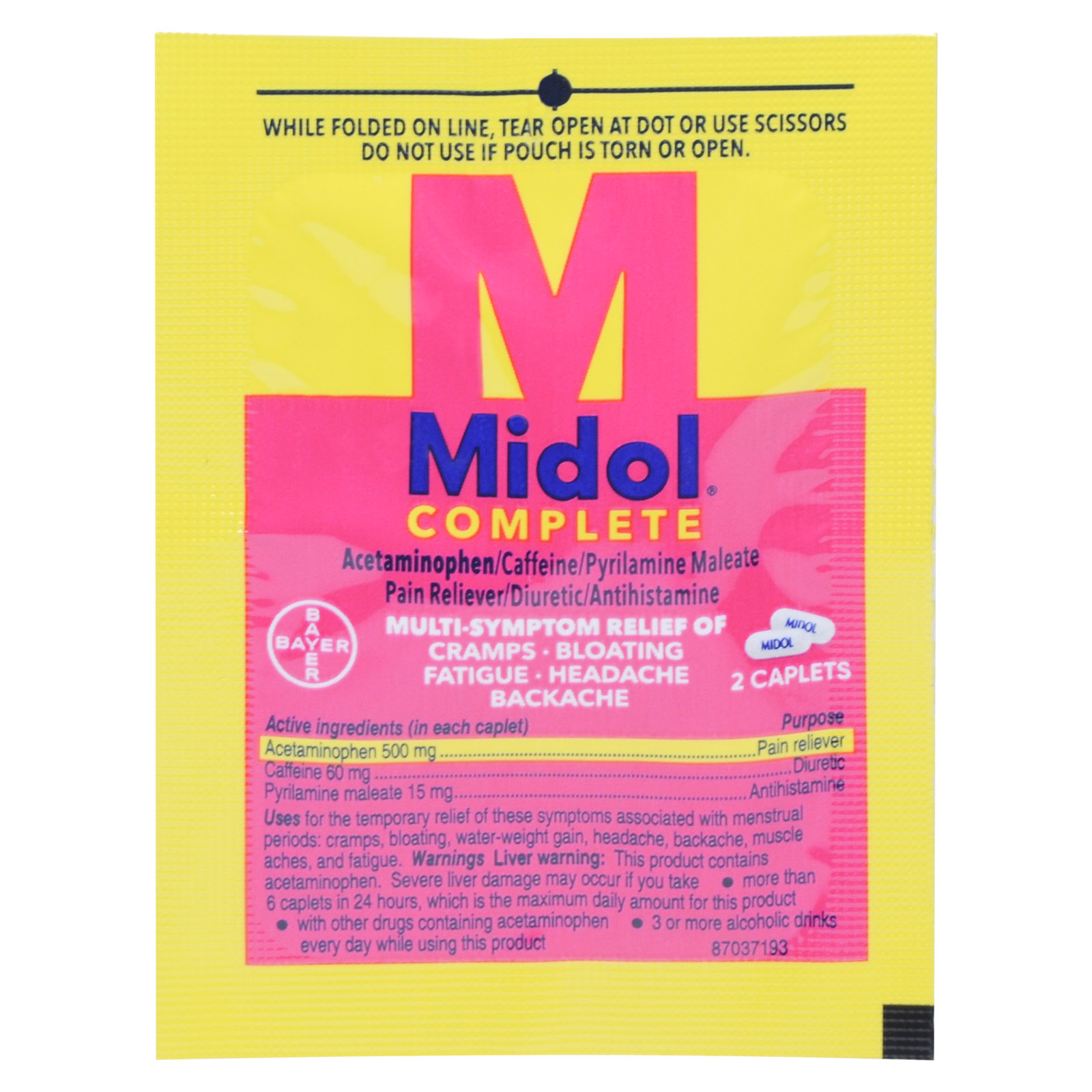Midol Menstrual Pain Relief Packets Mfasco Health Safety