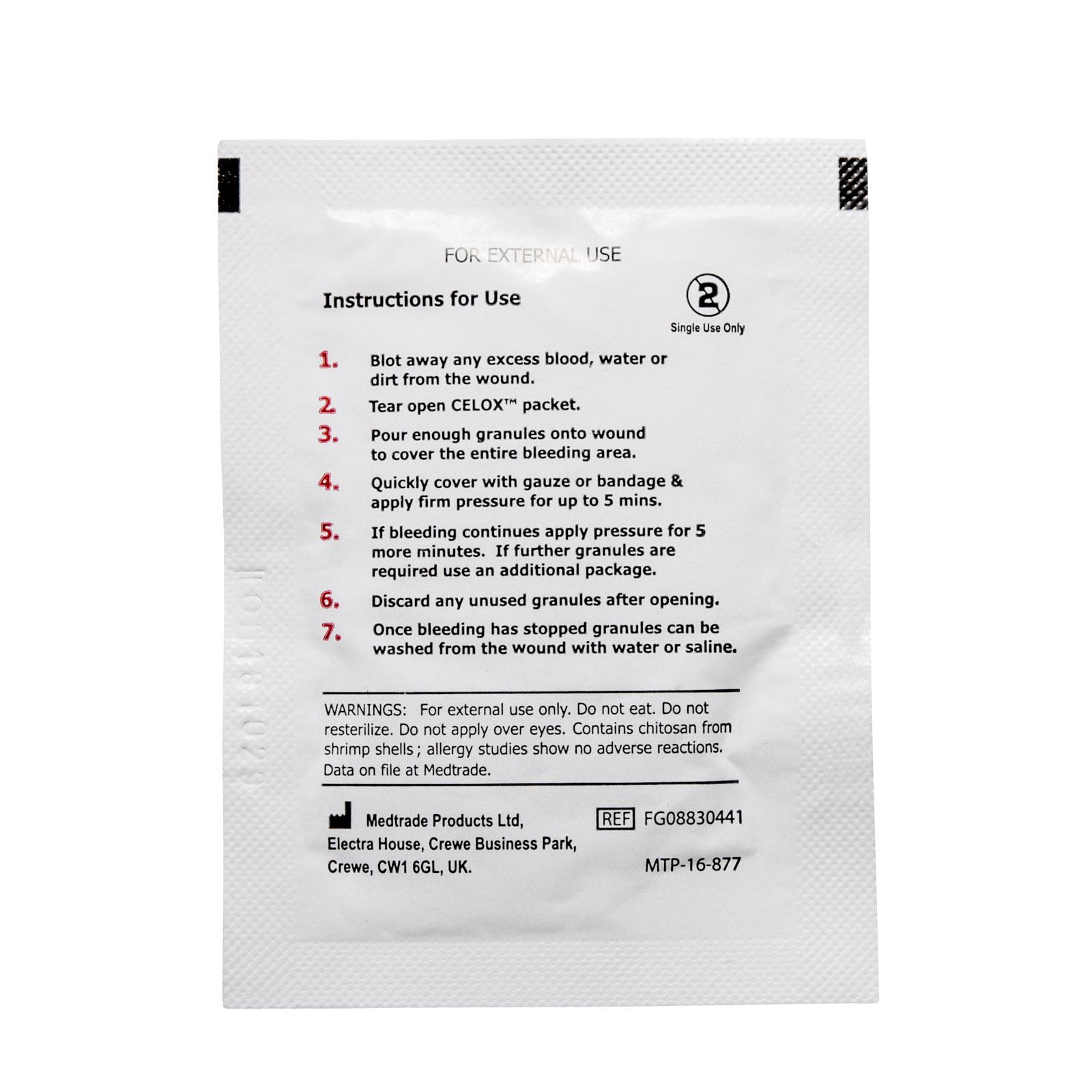 Celox Bleeding Control Granules | MFASCO Health & Safety