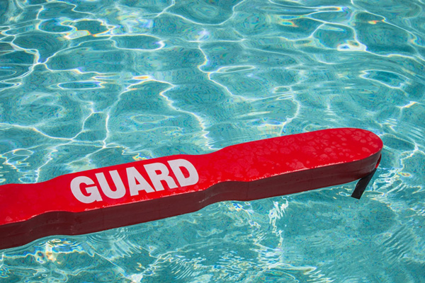 A life guard with the proper equipment is an important safety practice.
