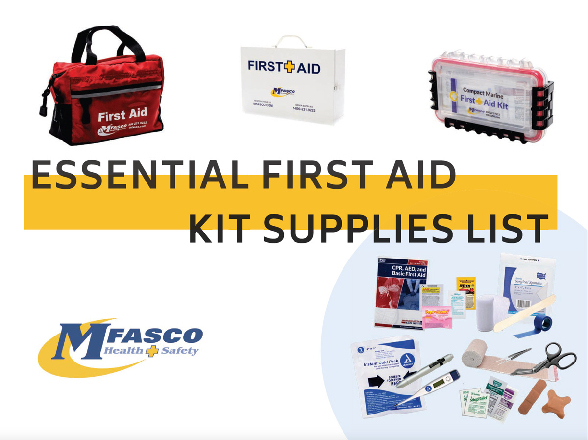 picture about Printable Chart of First Aid Procedures titled Significant Very first Assistance Package Offer Listing